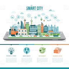 Smart city royalty-free stock vector art #CityVector
