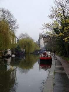 Canal in North London, England