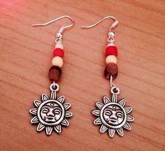 Beaded Sun Earrings by HeartfeltHemp on Etsy, $5.00