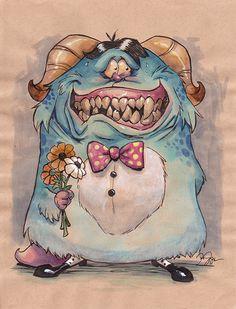 Illustration: Art : The Art of Danny Beck Funny Monsters, Cartoon Monsters, Little Monsters, Monster Illustration, Cute Illustration, Character Illustration, Cartoon Drawings, Cartoon Art, Art Drawings