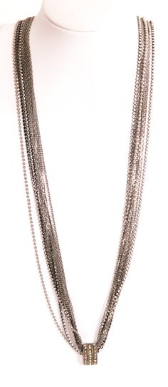 Giles & Brother - Mixed Metals Pendant Necklace