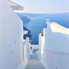 Santorini White and Blue paradise!! Photo by @terrene