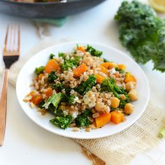 Make this Roasted Butternut Squash and Goat Cheese Farro Salad for a healthy, delicious dinner that's made with whole grains and tons of veggies! Confession- this is the FIRST TIME I have EVER cook...