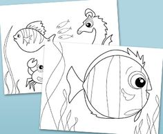 Obsessed with the underwater world? Free printable ocean and sea coloring pages.