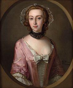 Portrait of Louisa Balfour, 1751 Giclee Print by Philippe Mercier 18th Century Costume, Miniature Portraits, Marianne, 18th Century Fashion, Woman Painting, Female Portrait, Fashion History, Pink Ladies, Photos