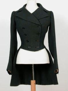 Lady's riding habit coat 1880