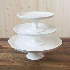 Milk Glass Hobnail & Fluted Cake Stands. #milkglasscakestand #milkglass #milkglasswedding