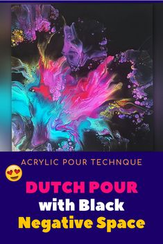 Dutch Pour with BLACK Negative Space - is It Going to Work?🌈 Acrylic Pouring - Acrylic pours - Dutch Pour Technique with BLACK – New Acrylic Pouring Tutorial by Olga Soby. Pour Painting Techniques, Acrylic Pouring Techniques, Acrylic Pouring Art, Acrylic Painting Tutorials, Acrylic Art, Top Paintings, Flow Painting, Smart Art, Alcohol Ink Art
