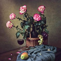 Still life with a bouquet of roses by Daykiney on DeviantArt Rose Bouquet, Professional Photographer, Still Life, Nature, Plants, Photography, Painting, Design, Home Decor