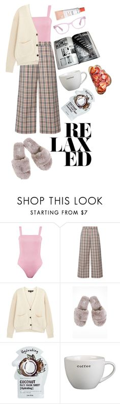 """PJs All Day: Lovely Loungewear"" by thefashionaccounts ❤ liked on Polyvore featuring Isa Arfen, Proenza Schouler, Tony Moly, Crate and Barrel and LovelyLoungewear"
