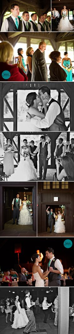 Rustic Ohio wedding venue, Happy Days Lodge