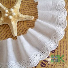 5Yards White 100% Cotton Lace Trim DIY Handmade For Crafts Doll Dress Wedding Dress Decor Skirt Sewing Bridal 6cm Wide ** Click on the image for additional details.