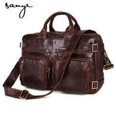104.45$  Buy now - http://ali4g2.worldwells.pw/go.php?t=32793176896 - A Series of Men's Business Personality and Generous Men Leather Handbag Crossbody Bag Backpack