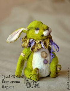 Джанис Грин - зелёный,ярко-зелёный,кролик,заяц,друзья тедди,друзья мишек тедди