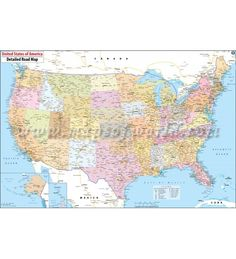Usa Interstate Highway Wall Map on us interstate map, simple united states map, usa road wall map, southeast us road map, usa road maps with distances, usa wall maps united states, federal highway map, us highway route map, bordeaux wine region map, united states road map, usa major highway map, interstate road map,