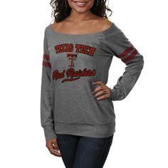 Texas Tech Red Raiders Ladies Flash Dance Sweatshirt - Gray