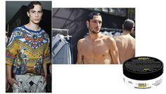 Les tendances coiffures homme de la fashion week printemps-été 2016 : La vague de côté méditéranéenne gominé cheveux noirs Kiehl's Umit Benan Dolce & Gabbana http://www.vogue.fr/vogue-hommes/beaute/diaporama/les-tendances-coiffures-homme-printemps-t-2016/21395#les-tendances-coiffures-homme-printemps-t-2016-la-vague-de-ct