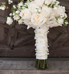 Pearl accented bouquet