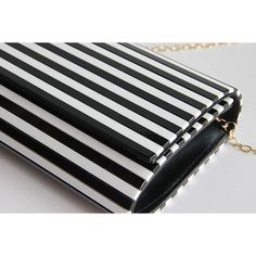Sofia Black and White Striped Clutch ❤ liked on Polyvore featuring bags, handbags, clutches, white and black purse, black white striped purse, stripe purse, black and white clutches and black white handbag