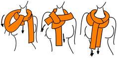 Schal in einer Schlaufe binden | Anleitung | Nicht 75B