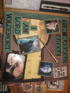 Tom Riddle becomes Lord Voldemort Harry Potter scrapbook