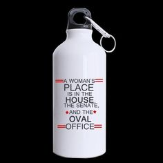 New YearChristmas Day Gifts Funny Saying A womans place is in the house the senate and the oval office 100 Aluminum 135 OZ Sports Bottles * Click image for more details.