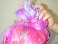 Bright pink lavender hair!