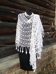 White lace shawl, knitted shawl, estonian lace, Haapsalu Wool Shawl, Knitting Shawl, handmade shawl, Wedding shawl, gift for women