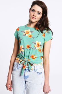 Truly Madly Deeply Floral Tie Tank