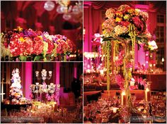absolutely love the floral decor at this wedding!