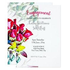 Engagement Invitation Template Set  Engagement Invite  Details