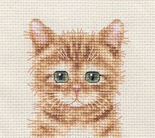 GINGER CAT, KITTEN ~ Full counted cross stitch kit + All materials in Crafts, Needlecrafts & Yarn, Embroidery & Cross Stitch, Hand Embroidery Kits, Cross Stitch Kits | eBay
