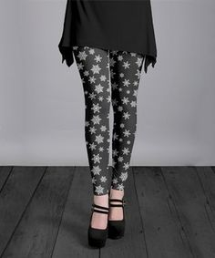0c67d336f Christmas in August  Adults. Snowflake LeggingsWhite SnowflakeSnowflakes Women s ...