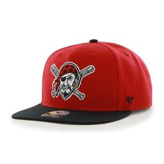 Pittsburgh Pirates Sure Shot Two Tone Captain Red 47 Brand Adjustable Hat