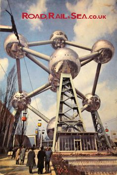 The Atomium in Brussels. We love the feeling of hope and modernity with the bold, metal, space age structure set against a sunny blue sky. Visit the Road, Rail And Sea destination page on Brussels for more...
