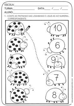 Preschool Printables, Preschool Learning, Kindergarten Worksheets, Teaching Kids, Activities For 2 Year Olds, Preschool Activities, Teaching Numbers, 1st Grade Worksheets, Kids Education