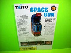 Taito SPACE GUN Original NOS 1990 Video Arcade Game Promo Flyer Electrocoin Rare #Electrocoin #Taito #SpaceGun #ArcadeGameFlyer