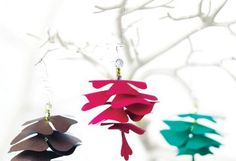 Feeling crafty this Christmas? Gather Santa's little helpers together to make some last minute homemade ornaments for the tree.    We found this cute paper pinecone ornament on Canadian Living. Cut out the whimsical pattern pieces and invite kids to create their own, colourful twirling pinecones by threading together the paper pieces. Pretty soon, you will have enough pinecones to cover the entire tree!