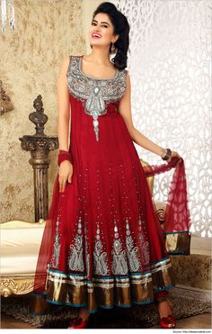 Trendy Floor Length Anarkali Dresses, Suits & Salwars