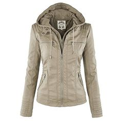Showcase your edgy fashion sense with this women's moto jacket from Kangwoo. Quilted stitching details and detachable hood are essential parts of this iconic motorcycle style. Moreover, princess seams soften the tough look with structure which complements your feminine figure. Crafted from...  More details at https://jackets-lovers.bestselleroutlets.com/ladies-coats-jackets-vests/leather-faux-leather-ladies-coats-jackets-vests/product-review-for-kangwoo-womens-vintage-