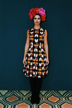 Kleid bordeaux creme