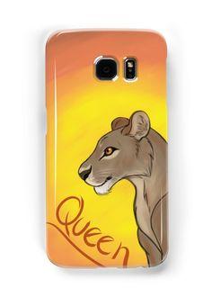 Lioness Queen Samsung Galaxy Case #lion #lioness #queen #africa #safari by thekohakudragon