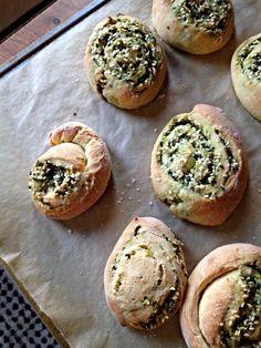 cilantro scallion bread.