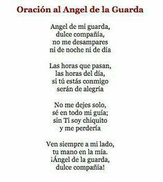 Oración al Ángel de la Guarda.