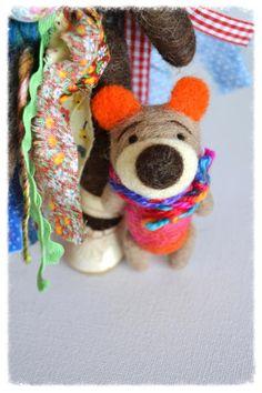 Wooly Topic Bear Friend. Pocket Bear. Wool Bear. by WoolyTopic
