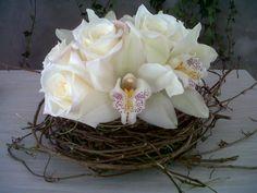 Centro de mesa con orquideas cymbidium