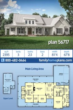 Country, Craftsman, Modern Farmhouse House Plan 56717 with 3 Beds , 3 Baths , 2 Car Garage design plans my dream house Farmhouse Floor Plans, Farmhouse Homes, Craftsman Farmhouse, Farmhouse Table, Farmhouse Layout, Craftsman House Plans, Craftsman Style, Rustic Farmhouse, New House Plans