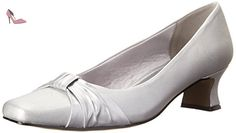 Easy Street Waive Large Satin Talons, Silver Satin, 36.5 EU - Chaussures easy street (*Partner-Link)