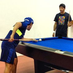"""Let's see f you can get it"" Shaikh Hamdan vs Shaikh Saeed @ faz3 @uncle_saeed #faz3 #unclessaeed #pool - @eisa_sharif- #webstagram"