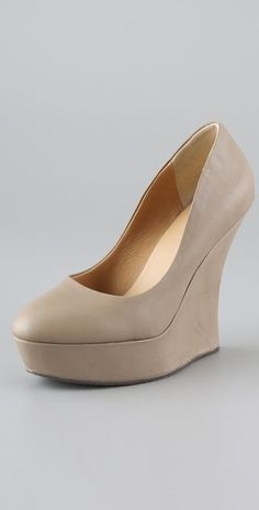 wedge pumps - aka how to wear heels and not fall over, if you're me.